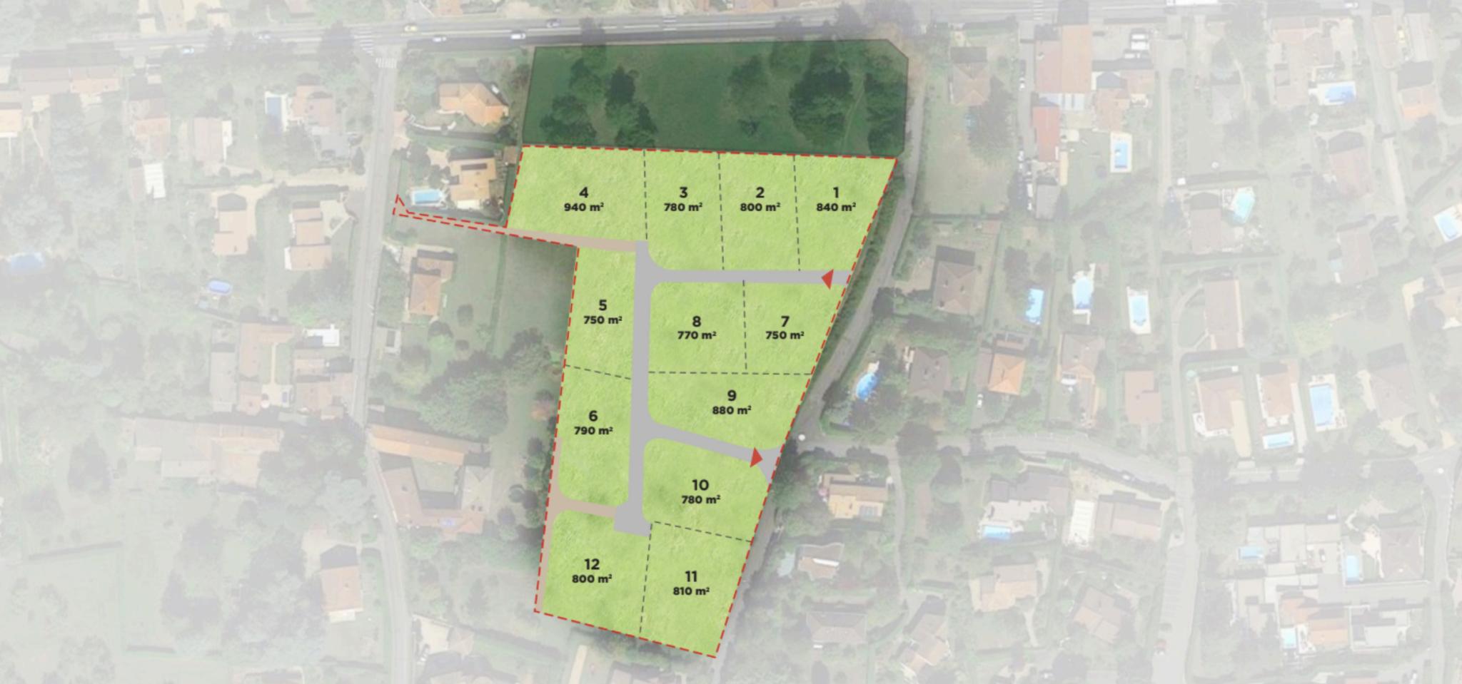 Domaine de Montpiollier plan de masse